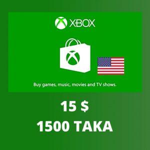 XBOX $15 Giftcard 1500 TK
