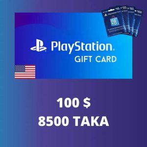 PlayStation $100 Gift Card 8500 TK