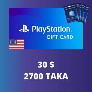 PlayStation $30 Gift Card 2700 TK