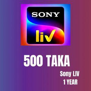 Sony LIV 1 Year 500 TK