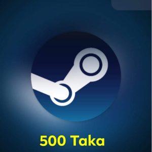 $5 Steam Wallet Code (US) 500 TK